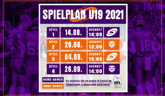 Kickoff zur GFL Juniors Saison 2021!